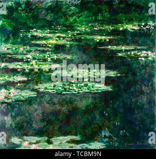 Claude Monet Nymphéas, la peinture de paysage, 1904, Musée Malraux (MuMa) Photo Stock
