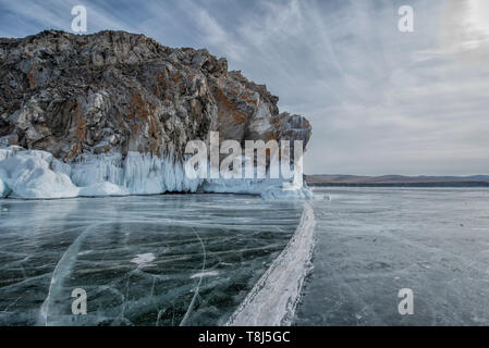 Le lac Baïkal, Sibérie, Russie Photo Stock
