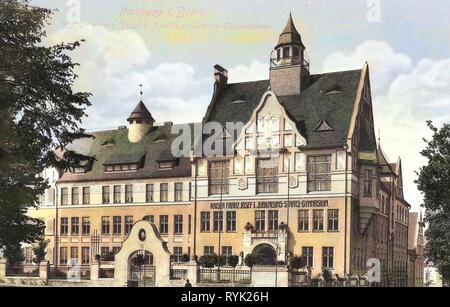 Gymnázium Rumburk, portes, dans l'actuel District, 1914, d'Ústí nad Labem, Rumburg, Kaiser, Franz, Josef I. Jub. Staatsgymnasium, République Tchèque Photo Stock