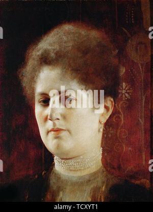 Portrait de femme , 1894. On trouve dans la collection de musée de Vienne. Photo Stock