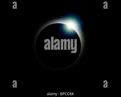 Une éclipse solaire Photo Stock