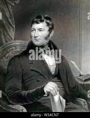 JOSEPH BROTHERTON (1783-1857), homme politique britannique végétarien pionnier Photo Stock