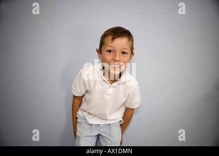 Boy Smiling at Camera Photo Stock