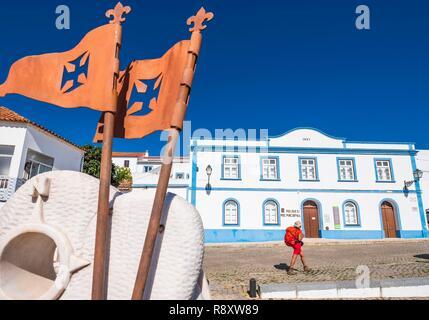 Le Portugal, l'Algarve, région au sud-ouest Alentejano et Costa Vicentina Parc Naturel, Aljezur sur le sentier de randonnée Rota Vicentina (Gr 11), Musée municipal Photo Stock