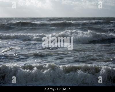 Seascape Anglais orageux Photo Stock