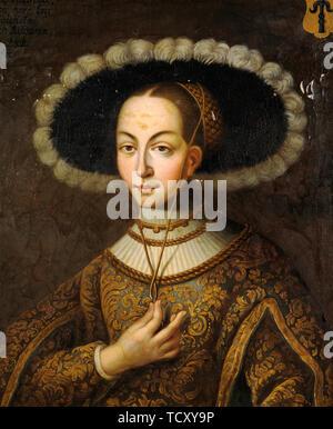 Portrait de Margareta Eriksdotter Vasa (1497-1536), sœur du roi Gustav je de la Suède. On trouve dans la collection de Skokloster Castle. Photo Stock
