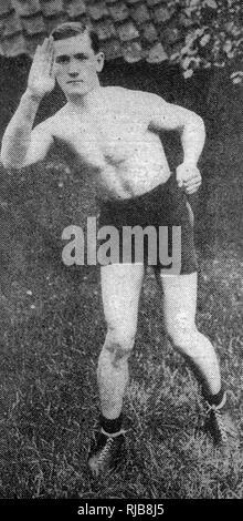 Charlie Hardcastle (1894-1960), boxeur poids plume en anglais Photo Stock