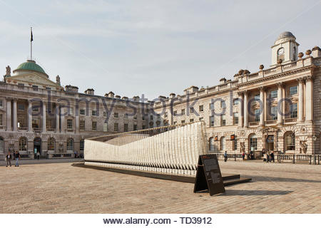 L'installation par Nassia Ingessis pour la Grèce. Design Biennale 2018 de Londres, Londres, Royaume-Uni. Architecte: Divers , 2019. Photo Stock