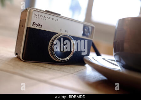 Kodak Instamatic 33 style retro camera Photo Stock