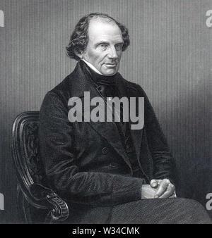 JOHN RUSSELL, 1er comte Russell (1792 à 1878) politicien britannique et deux fois Premier Ministre Photo Stock