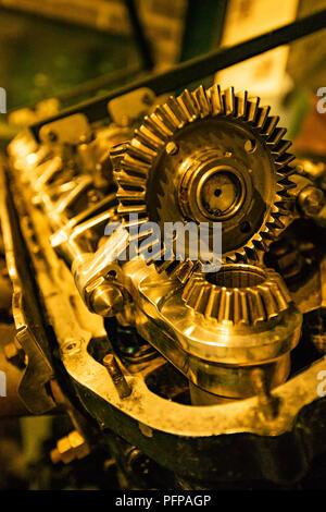 Gros plan de moteurs d'avion Photo Stock