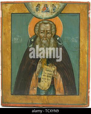 Saint Alexandre Svirsky, 17e siècle. On trouve dans la Collection de la Suomen ortodoksinen kirkkomuseo. Photo Stock