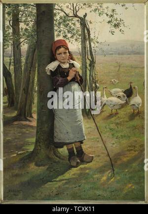 La Gardeuse, ca 1885. On trouve dans la Collection de la Galerie nationale, Prague. Photo Stock