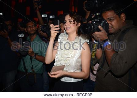L'acteur de Bollywood Isha Sharvani durant la musique Lancement du film à venir David à Mumbai, Inde, le 14 janvier 2013. (Dr Naik/ IMAGES SOLARIS) Photo Stock