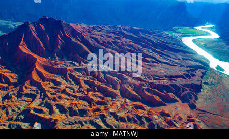 Piebald Badlands, Colorado, Utah, Ndear Moab Photo Stock