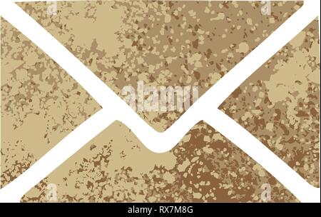 Retro style illustration cartoon d'une enveloppe de papier Photo Stock