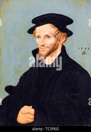 Lucas Cranach le Vieux, Philipp Melanchthon, 1497-1560, portrait, 1543 Photo Stock