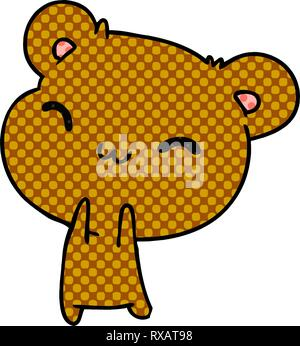 Cartoon illustration kawaii cute teddy bear Photo Stock
