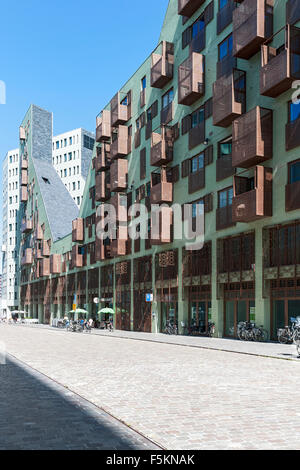 L'architecture moderne, Westerdok, Amsterdam, Pays-Bas Photo Stock
