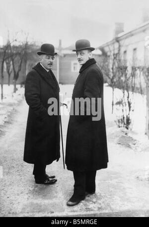 9 1917 1215 A1 4 Kuehlmann 1917 Czernin et Guerre Mondiale 1 1914 18 Russian German armistice de Brest Litowsk 15 Photo Stock