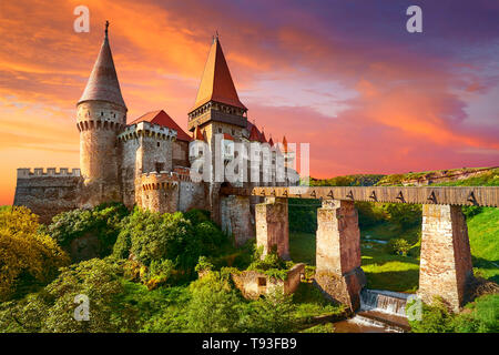 Château Corvin, Hunedoara, Transylvanie, Roumanie Photo Stock