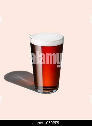 Un graphique tiré d'une pinte de bière Photo Stock