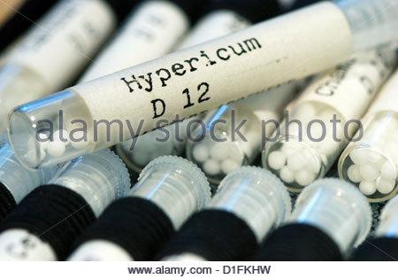 Les remèdes homéopathiques Photo Stock