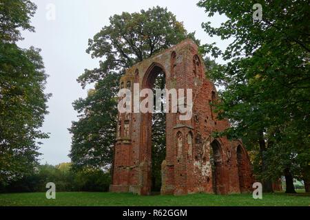 Eldena monastère près de Greifswald Photo Stock