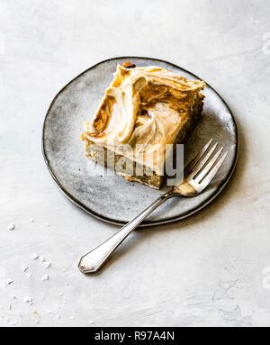 Gâteau au caramel de banane Photo Stock