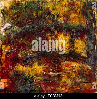Claude Monet, le pont japonais, Giverny, peinture, vers 1920 Photo Stock