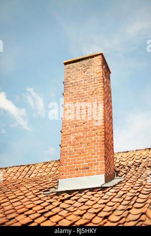 Cheminée en briques Photo Stock