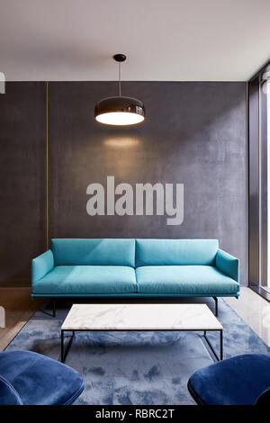 Détail dans le salon. 8 Bloomsbury, Londres, Royaume-Uni. Architecte: Buckley Gray Yeoman, 2017. Photo Stock