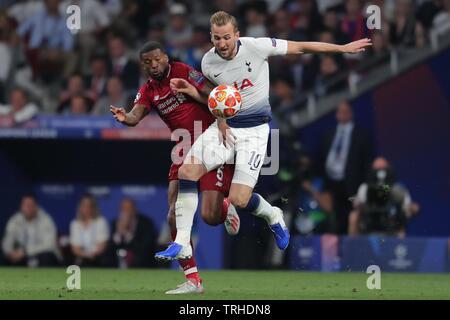 GEORGINIO WIJNALDUM, HARRY KANE, Tottenham Hotspur FC V LIVERPOOL FC finale de Champions League 2019, 2019 Photo Stock