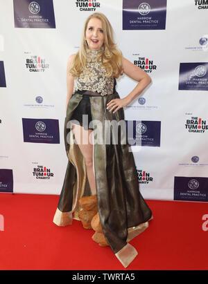 Gillian McKeith participant à la pratique dentaire de la herse, pour la première fois, un dîner de gala de charité au profit de la tumeur au cerveau de bienfaisance à l'Intercontinental Hotel à London 02 Photo Stock