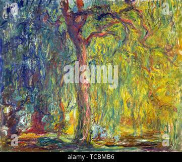 Claude Monet, saule pleureur, peinture, 1918 Photo Stock