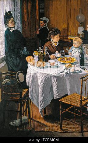 Claude Monet, le déjeuner, peinture, huile sur toile, 1868, Stadel Museum Frankfurt Photo Stock