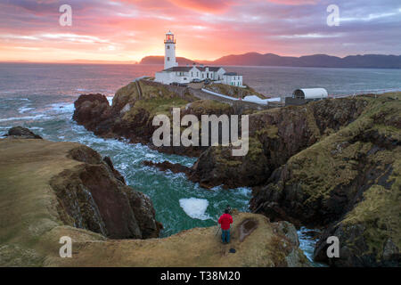 Situé dans le phare de Fanad Co Donegal, Irlande. Photo Stock