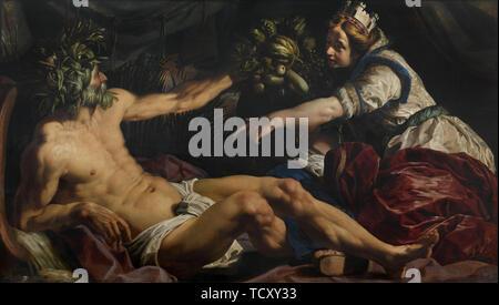 Scaldis et Antverpia (Escaut et Anvers), 1609. On trouve dans la collection de musée Royal des Beaux-Arts, Anvers. Photo Stock