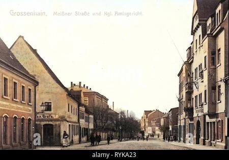 Bâtiments de Großenhain, boutiques en Saxe, 1912, Landkreis Meißen, Großenhain, Meissner Straße, Allemagne Photo Stock