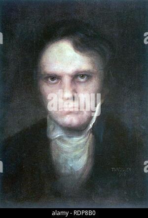 LUDWIG van Beethoven (1770-1827) compositeur allemand. Un portrait imaginaire du 1902. Photo Stock