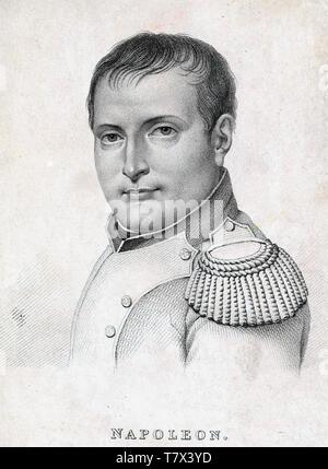 Napoléon Bonaparte (1769-1821), chef militaire et homme d'État français à propos de 1812 Photo Stock
