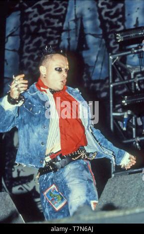 Le groupe de rock britannique PRODIGY avec Keith Flint à l'U(& les concerts à Londres en août 1997. Photo Stock