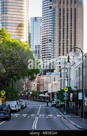 Scène de rue du quartier des roches à Sydney, Australie Photo Stock