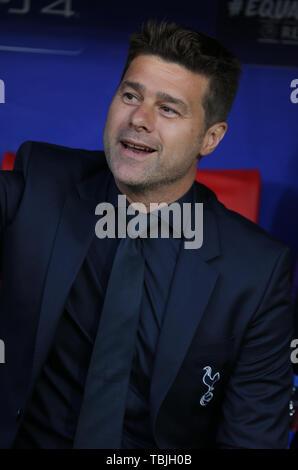 Madrid, Espagne. 01 Juin, 2019. Mauricio Pochettino, Tottenham Hotspur FC Manager 2019: Crédit photo Allstar Bibliothèque/Alamy Live News Photo Stock