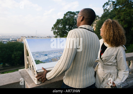 African couple pointing Photo Stock