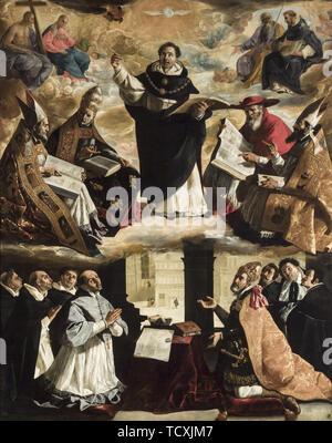 L'apothéose de Saint Thomas d'Aquin, ca 1631. On trouve dans la collection de Museo de Bellas Artes, Sevilla. Photo Stock