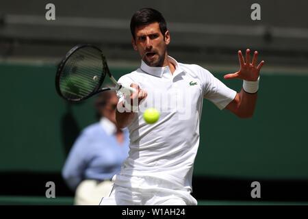 Londres, Royaume-Uni. 1er juillet 2019. Novak Djokovic, Serbie, 2019 Allstar Crédit: photo library/Alamy Live News Crédit: Allstar Photo Library/Alamy Live News Photo Stock