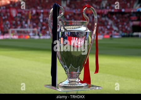 Trophée LA FINALE DE LA LIGUE DES CHAMPIONS, Tottenham Hotspur FC V LIVERPOOL FC, 2019 Photo Stock