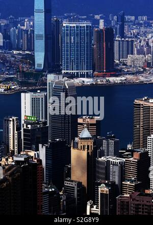 La vue unique de la montagne de Hong Kong Photo Stock