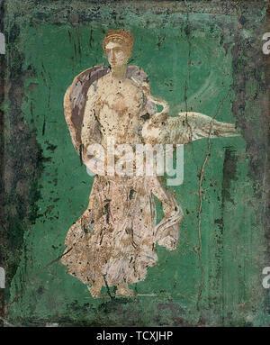 Léda et le cygne, 1H. 1cen. AD. On trouve dans la collection de Museo Archeologico Nazionale di Napoli. Photo Stock